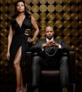 Empire stars Henson and Howard: Pictured L-R: Taraji P. Henson as Cookie Lyon and Terrence Howard as Lucious Lyon | Co. Cr: James Dimmock/FOX.