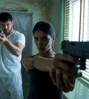Pictured: (l-r) Ryan Guzman as Carlos Gutierrez, Nazneen Contractor as Farah Nazan -- (Photo by: Christos Kalohoridis/NBC)