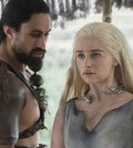 Pictured: Joe Naufahu as Khal Moro and Emilia Clarke as Daenerys Targaryen Credit: Macall B. Polay/HBO