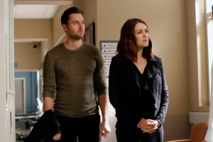 Pictured: (l-r) Ryan Eggold as Tom Keen, Megan Boone as Elizabeth Keen -- (Photo by: Will Hart/NBC)