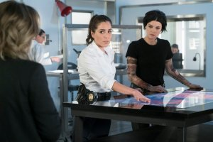 Pictured: (l-r) Ashley Johnson as Patterson, Audrey Esparza as Tasha Zapata, Jaimie Alexander as Jane Doe -- (Photo by: Virginia Sherwood/NBC)