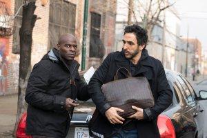 "THE BLACKLIST -- ""Dembe Zuma"" Episode 416 -- Pictured: (l-r) Hisham Tawfiq as Dembe Zuman, Amir Arison as Aram Mojtabai -- (Photo by: Virginia Sherwood/NBC)"