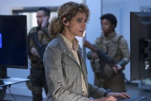 "BLINDSPOT -- ""Mom"" Episode 221 -- Pictured: Michelle Hurd as Shepherd -- (Photo by: David Giesbrecht/NBC)"