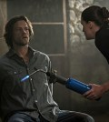 Pictured (L-R): Jared Padalecki as Sam and Bronagh Waugh as Ms. Watt -- Photo: Katie Yu/The CW