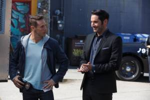 L-R: Kevin Alejandro and Tom Ellis | Co. Cr: Michael Courtney/FOX.