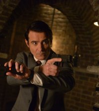 "TIMELESS -- ""The Red Scare"" Episode 115 -- Pictured: Goran Visnjic as Garcia Flynn -- (Photo by: Sergei Bachlakov/NBC)"