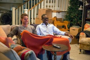 Pictured: (l-r) Justin Hartley as Kevin, Sterling K. Brown as Randall -- (Photo by: Ron Batzdorff/NBC)