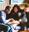 """THIS IS US -- """"The Trip"""" Episode 109 -- Pictured: (l-r) Sterling K. Brown as Randall, Chrissy Metz as Kate, Justin Hartley as Kevin -- (Photo by: Ron Batzdorff/NBC)"""