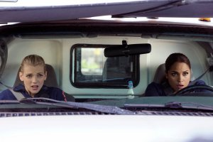 Pictured: (l-r) Kara Killmer as Sylvie Brett, Monica Raymund as Gabriela Dawson -- (Photo by: Elizabeth Morris/NBC)