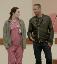 Pictured (L-R): Charlotte Sullivan as Anna, Taylor Kinney as Severide. Photo credit NBC