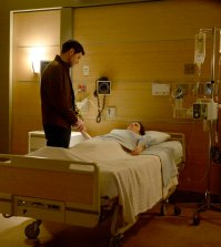 "GRIMM -- ""The Son Also Rises"" Episode 608 -- Pictured: (l-r) David Giuntoli as Nick Burkhardt, Bitsie Tulloch as Eve -- (Photo by: Allyson Riggs/NBC)"