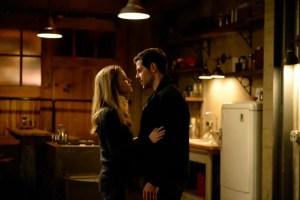 "GRIMM -- ""Blood Magic"" Episode 610 -- Pictured: (l-r) Claire Coffee as Adalind Schade, David Giuntoli as Nick Burkhardt -- (Photo by: Allyson Riggs/NBC)"