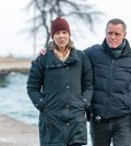 Pictured: (l-r) Amy Morton as Trudy Platt, Jason Beghe as Hank Voight -- (Photo by: Matt Dinerstein/NBC)