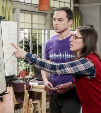 """The Collaboration Fluctuation"" -- Pictured: Sheldon Cooper (Jim Parsons) and Amy Farrah Fowler (Mayim Bialik). Photo: Sonja Flemming/CBS"