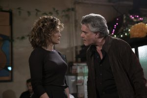 "SHADES OF BLUE -- ""Daddy's Girl"" Episode 204 -- Pictured: (l-r) Jennifer Lopez as Harlee Santos, Ray Liotta as Lt. Matt Wozniak -- (Photo by: Peter Kramer/NBC)"