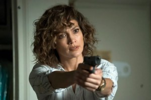"SHADES OF BLUE -- ""Sweet Caroline"" Episode 205 -- Pictured: Jennifer Lopez as Harlee Santos -- (Photo by: Peter Kramer/NBC)"