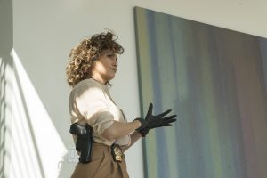 "SHADES OF BLUE -- ""Fracture"" Episode 206 -- Pictured: Jennifer Lopez as Harlee Santos -- (Photo by: Peter Kramer/NBC)"