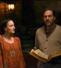 "GRIMM -- ""Zerstorer Shrugged"" Episode 612 -- Pictured: (l-r) Bree Turner as Rosalee Calvert, Silas Weir Mitchell as Monroe -- (Photo by: Allyson Riggs/NBC)"