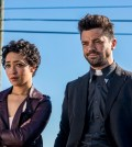 Dominic Cooper as Jesse Custer, Ruth Negga as Tulip O'Hare   Preacher _ Season 2, Episode 1 - Photo Credit: Skip Bolen/AMC