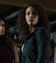 "SLEEPY HOLLOW: (L-R) Janina Gavankar  and Lyndie Greenwood in the ""Tomorrow"" episode of SLEEPY HOLLOW 