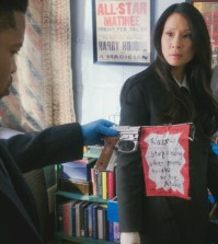 """The Art of Sleights and Deception"" Pictured Jon Michael Hill as Detective Marcus Bell and Lucy Liu as Joan Watson   Photo: Best Possible Screen Grab/CBS"