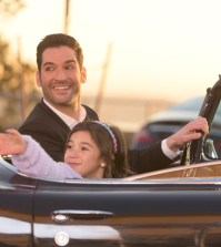 "LUCIFER: L-R: Tom Ellis and Scarlett Estevez in the ""Deceptive Little Parasite"" episode of  LUCIFER 