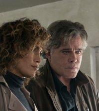 "SHADES OF BLUE -- ""Unpaid Debts"" Episode 208 -- Pictured: (l-r) Jennifer Lopez as Harlee Santos, Ray Liotta as Lt. Matt Wozniak -- (Photo by: Peter Kramer/NBC)"