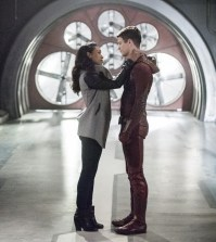 "The Flash -- ""Infantino Street"" --  Pictured (L-R): Candice Patton as Iris West and Grant Gustin as Barry Allen -- Photo: Dean Buscher /The CW"