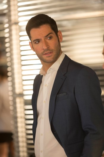 "LUCIFER: Tom Ellis in the ""Sympathy for the Goddess"" episode of LUCIFER. Cr: Michael Courtney/FOX"