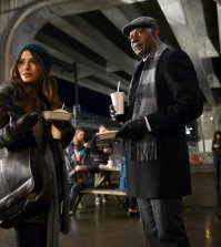 REVERIE -- Pilot -- Pictured: (l-r) Sarah Shahi as Mara Kint, Dennis Haysbert as Charlie Ventana -- (Photo by: Sergei Bachlakov/NBC)