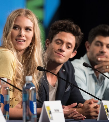 """STITCHERS - Comic-Con - Cast and executive producers from Freeform's hit original series """"Shadowhunters"""" and """"Stitchers"""" were featured at this year's San Diego Comic Con with panels, autograph signings and press rooms. (Freeform/Matt Petit) EMMA ISHTA, KYLE HARRIS, DAMON DAYOUB"""