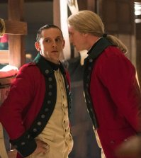 Jamie Bell as Abraham Woodhull, Chris Webster as Sergeant John Champe - TURN: Washington's Spies _ Season 4, Episode 7 - Photo Credit: Antony Platt/AMC