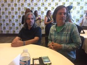 Ty Franck and Daniel Abraham at San Diego Comic Con 2017   Photo credit Pauline Perenack/ScreenSpy Magazine