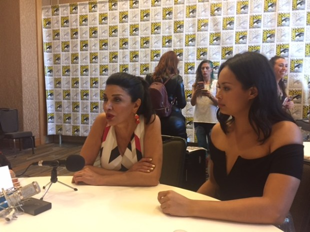 Shohreh Aghdashloo and Frankie Adams at San Diego Comic Con 2017 | Photo credit Pauline Perenack/ScreenSpy Magazine