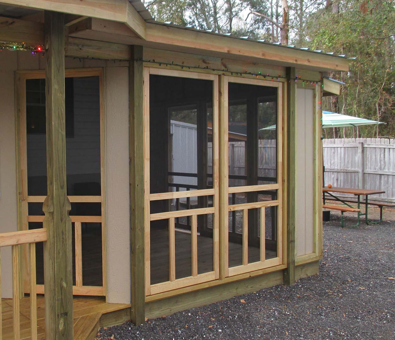 patio using screen doors screen tight