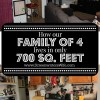 How Our Family of 4 Lives In a 700 Sq. Ft. House & Other Small Home Ideas