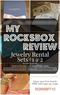 "Rocksbox Review. Cause it's exactly what I need in my life. It's a ""subscription box"" service. Sort of. Basically, you pay $19 a month to rent unlimited jewelry. And it's awesome. Get a free month if you use my code: RONNIBFF10"