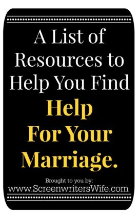 I'm a strong advocate of couples sticking things out and working through the hard times together...even the really, really, hard times. Here is a list of resources and tools to help you to find help for your marriage.