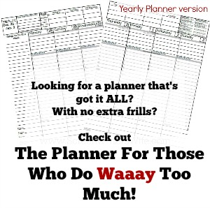 Planner For Those Who Do Too Much