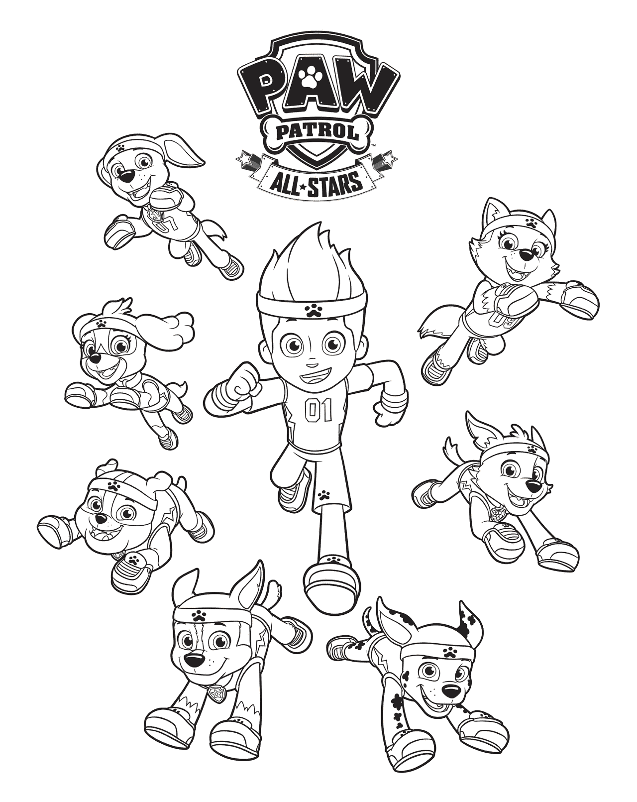 Free Printable Paw Patrol Coloring Pages For Kids