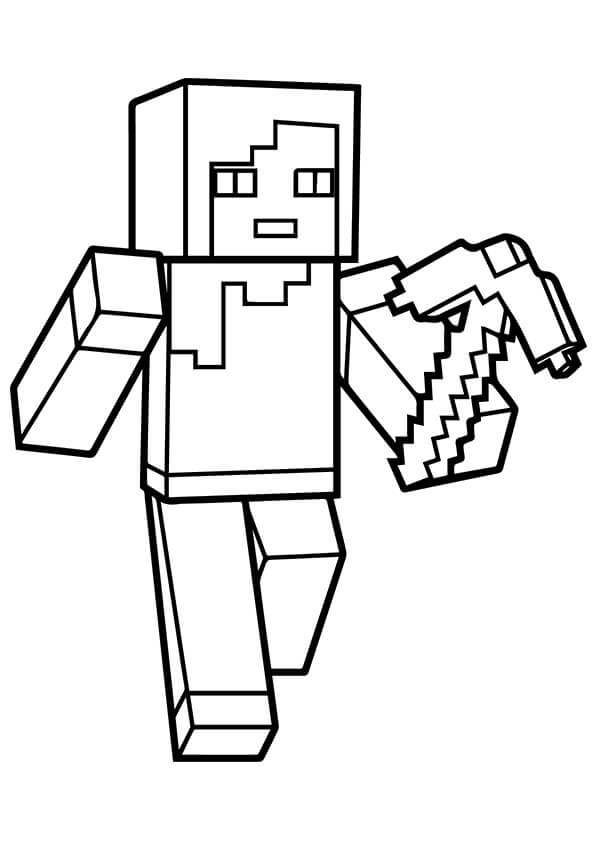 minecraft printable coloring pages # 35