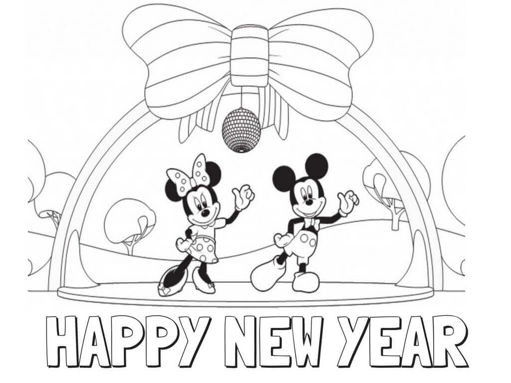 Printable New Year Coloring Pages
