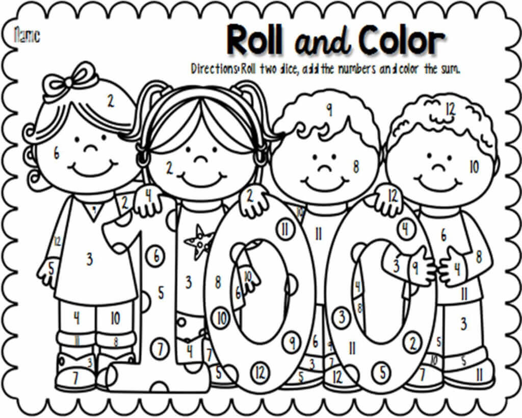Free Printable 100 Days Of School Coloring Pages Scribblefun