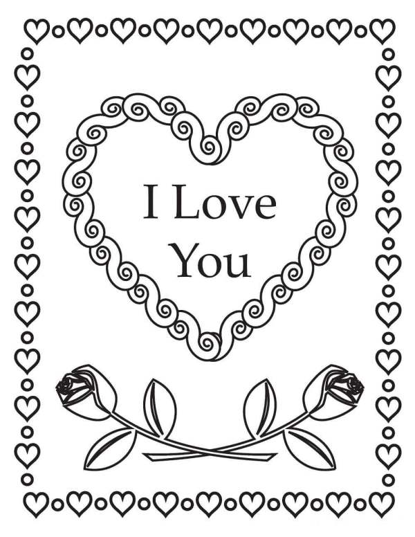 printable valentines day coloring pages # 67