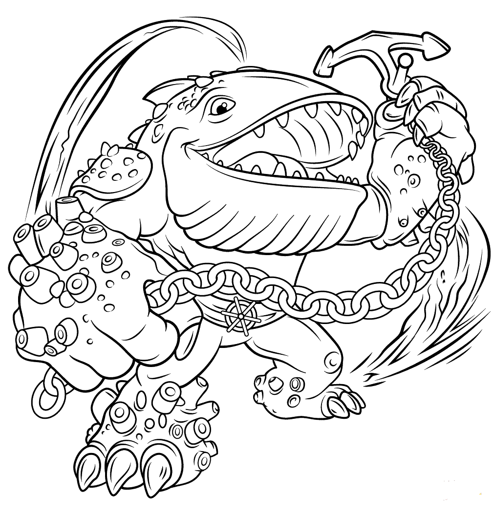 Giants Thumpback Skylanders Coloring Pages