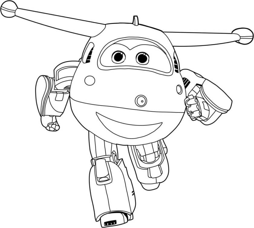 free printable super wings coloring pages