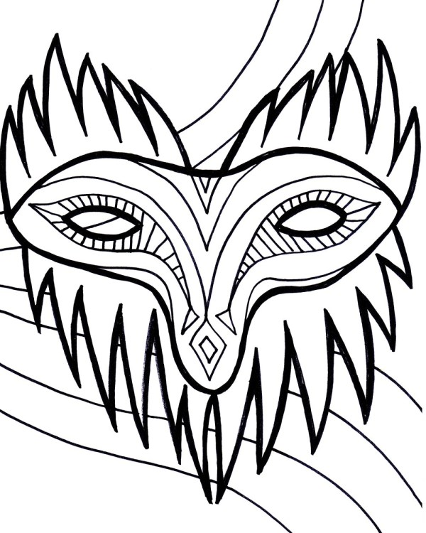 mardi gras coloring pages free printable # 68
