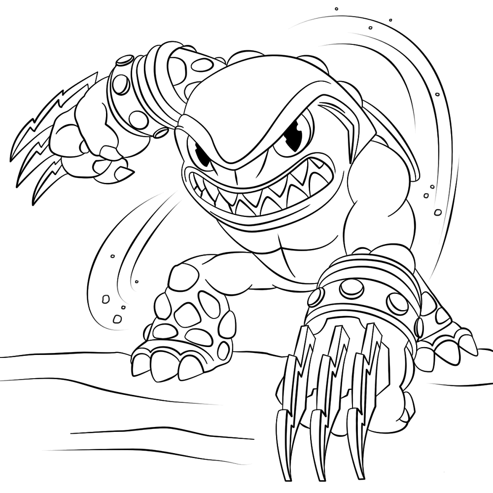 Terrafin Skylanders Coloring Pages