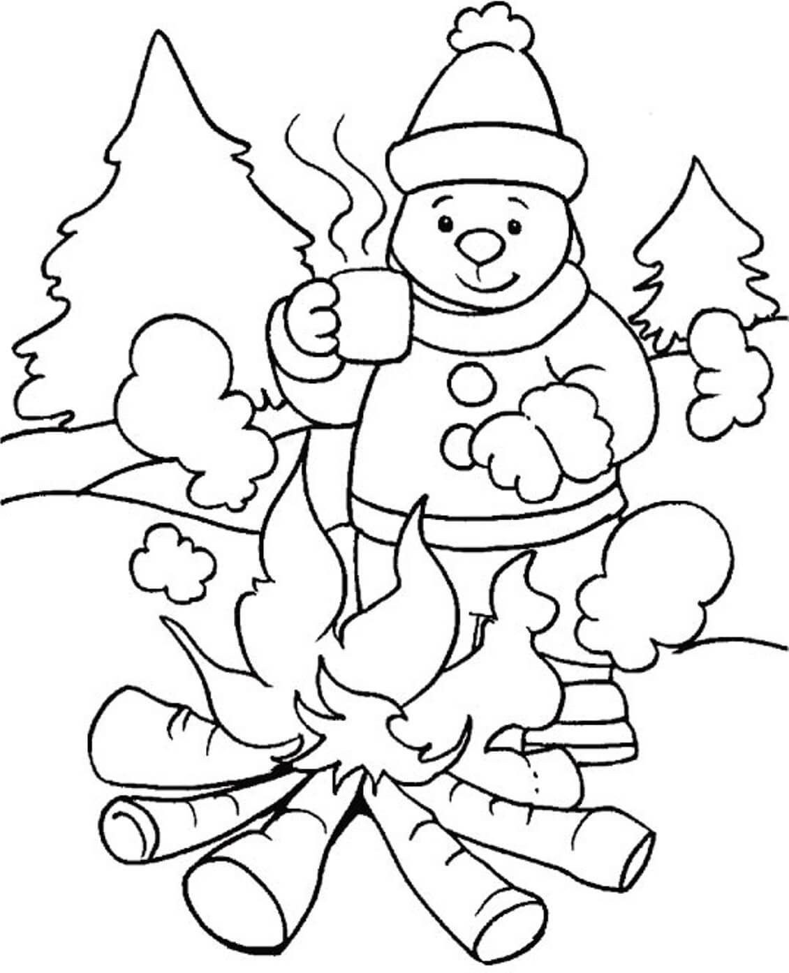 Free Printable Winter Coloring Pages   winter coloring pages  free