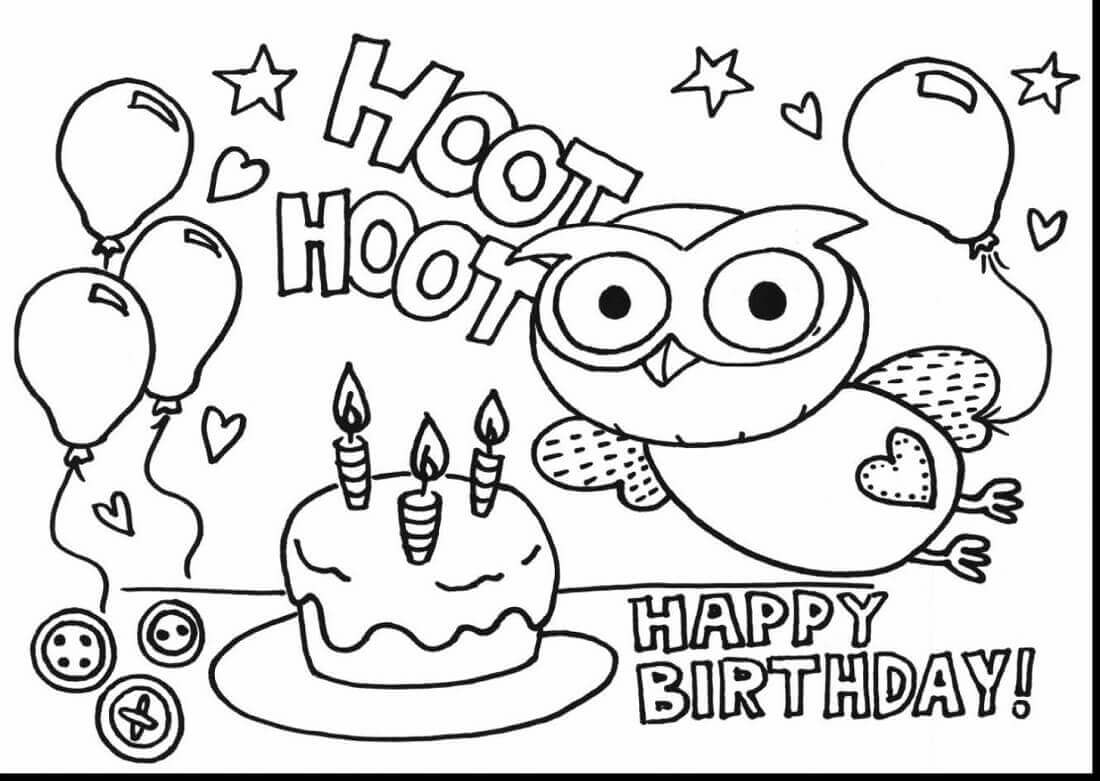 25 Free Printable Happy Birthday Coloring Pages Scribblefun